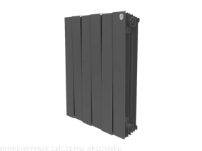 Royal Thermo Piano Forte 500 Noir Sable - биметаллический радиатор отопления, 1 секция