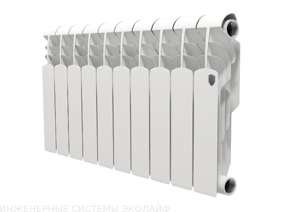 Royal Thermo Vittoria 350 - биметаллический радиатор отопления, 1 секция